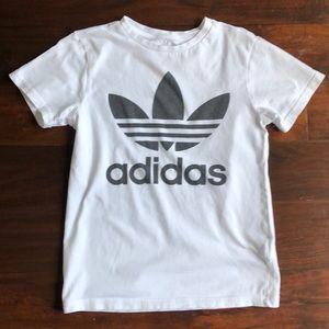 Adidas Y11-12 White Cotton T-Shirt